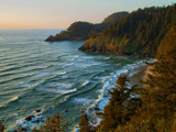 Heceta Head at Dusk by Zyrogerg, Photography->Shorelines gallery