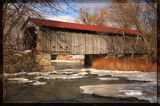 Mull Covered Bridge In Winter by Jimbobedsel, Photography->Bridges gallery