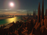 Distant sunset by Foxfire66, Computer->Landscape gallery