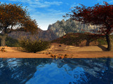 Pleasant Peaks by tealeaves, computer->landscape gallery