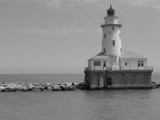 Chicago Lighthouse in BW by hollywoodhippie, Photography->Lighthouses gallery