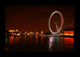 A view of the Thames from Westminster Bridge at night by JQ, Photography->City gallery