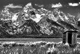 The Tetons B&W by snapshooter87, photography->landscape gallery