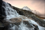 Backlit sunset snow-shower - Djupvatnet, Norway by jma55, Photography->Waterfalls gallery