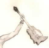 K.S.A  guitar by Tochi, illustrations->traditional gallery