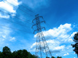 Blue Skies & Power Lines by S_Proops, Photography->Architecture gallery
