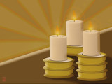 Three Candles by Jhihmoac, Illustrations->Digital gallery