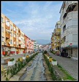Side street with a touch of a sea view by Bursa, photography->city gallery