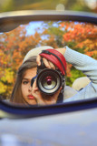 Madi Grace discovers side view car mirror! by nanadoo, photography->people gallery