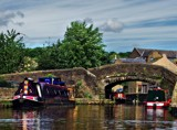 Narrow Boats at Skipton by biffobear, photography->boats gallery