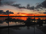 Color Behind the Moorage by busybottle, photography->sunset/rise gallery