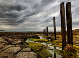 The old Pier Posts by biffobear, photography->shorelines gallery