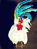 Colorful Rooster by bfrank, illustrations gallery