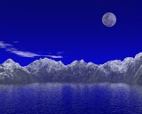 Mountains and the moon by eris007_2003, computer->landscape gallery
