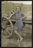 Stepping out of time Farm girl leaning on wagon by rvdb, photography->manipulation gallery