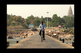 Cyclists on the road from Orchha, India by silicon, Photography->Landscape gallery