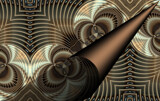 Curl In Linear Larceny by Flmngseabass, abstract gallery