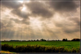 Crepuscular Rays Over The Peninsula by corngrowth, photography->skies gallery