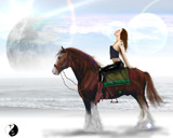 Beach Horse Riding by vangsdesign, illustrations->digital gallery