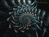 Ice Blue Garland by razorjack51, Abstract->Fractal gallery