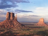 Navajo Country. Sunset on the Mittens by fotobob, Photography->Mountains gallery