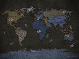 Jeans World Map by vladstudio, Illustrations->Digital gallery