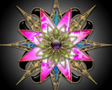 clock work flower by cro5point, abstract gallery