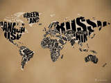 Typographic World Map by vladstudio, Illustrations->Digital gallery
