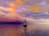 Sunset Schooner by DixieNormus, Computer->Landscape gallery