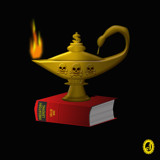 """""""The Lamp of Lending --- er, Learning"""" by Jhihmoac, illustrations->digital gallery"""