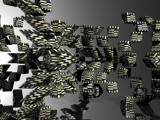 Checkered Block Thingies by rabagojason, computer->3d gallery
