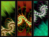 Triptych by Beesknees, Abstract->Fractal gallery