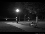 Park Bench - B&W by Delusionist, Photography->Landscape gallery