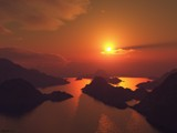 Darkland sunset by Frux, Computer->Landscape gallery