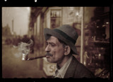 Man with homemade pipe 1937 by rvdb, photography->manipulation gallery