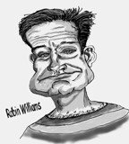 Robin Williams by bfrank, illustrations gallery