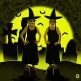 The Novella Sisters - Halloweek by Jhihmoac, illustrations->digital gallery