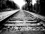 Train Tracks in B&W by Jeremy805, Photography->Trains/Trams gallery