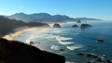 Cannon Beach and Haystack Rocks by ted3020, photography->shorelines gallery