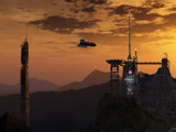 Evening Docking -- Stage 4 by DigitalFX, Computer->Landscape gallery