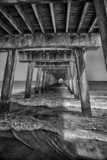 Tybee Island Fishing Pier by luckyshot, contests->b/w challenge gallery