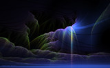 Fluorescent Waterfalls by nmsmith, abstract->fractal gallery