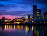 Cleveland Skyline at Sunrise by PhilipCampbell, photography->sunset/rise gallery
