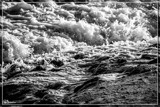 Fast Flowing Seawater by corngrowth, contests->b/w challenge gallery