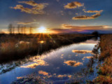Setting Sun at Fern Ridge by Zyrogerg, Photography->Manipulation gallery
