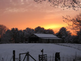 Snowy sunset in the South by angelkitty, photography->sunset/rise gallery