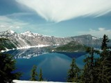 Crater Lake in winter by Zyzyx, Photography->Mountains gallery