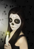 Day Of The Dead (Digital Painting) by artytoit, illustrations->digital gallery