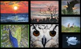 Collage #1 - Birds Oils by Victor by rotcivski, illustrations->traditional gallery