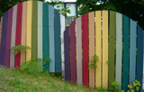 Rainbow Fence by Cream_Puff, Photography->Architecture gallery